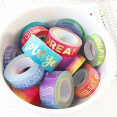 Washi and watercolor, my two loves! ?????????? Color Crush collection @michaelsstores