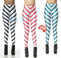 Zebra Black and White Figures Leggings Print Yoga by CherryAIO, $11.99