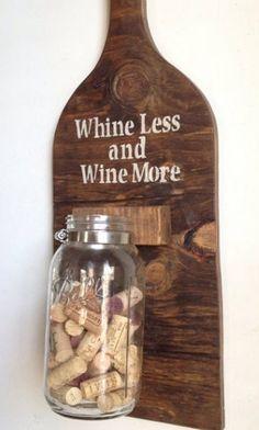 Rustic Wine Cork Display