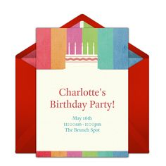 This cake-inspired free birthday invitation design is a perennial favorite on Punchbowl. We love it as an invitation for an adult birthday party or milestone birthday party.