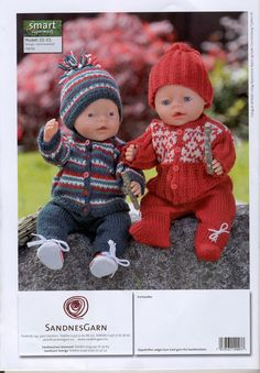Albumarkiv Knitting Dolls Clothes, Knitted Dolls, Doll Clothes Patterns, Crochet Dolls, Doll Patterns, Girl Dolls, Baby Dolls, Baby Born Clothes, Teddy Bear Clothes