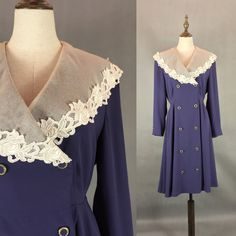 Elegant Japanese Vintage Floral Lace Collar Dress / by LazyQueens
