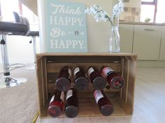 Rustic wooden apple crate wine rack. Handmade in our Dorset workshop from FSC timber. Can also be personalised if required.
