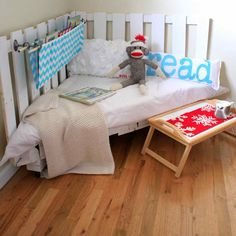 Reading Nook Using Two Wooden Palettes   18 Simple Yet Creative Wood Pallets Projects To Give Your Home That Rustic Look