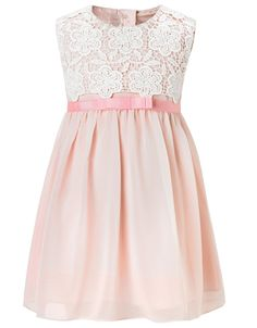 Baby Bardot Lace Dress | Pink | Monsoon - only goes up to age 2-3