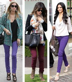 Give your look a color make-over with brightly hued bottoms.