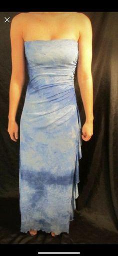 a847d93282 Blue Tie Dye Prom Formal Dress Size 0-2  fashion  clothing