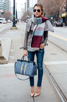 the best office outfit idea with jeans