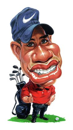 Tiger Woods by Art