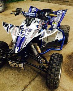 "YAMAHA RAPTOR 660 ATV GRAPHICS /""MACHINEHEAD/"" BLUE MODEL SKULL"