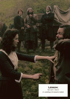 Outlander definitions.- Lesson. (x)