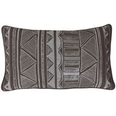 Thro by Marlo Lorenz Tracey Embroidered Tribal Throw Pillow (48 CAD) ❤ liked on Polyvore featuring home, home decor, throw pillows, pillows, tribal throw pillows, patterned throw pillows, tribal home decor and embroidered throw pillows
