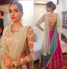 New indian bridal dupatta setting outfit ideas Indian Attire, Indian Wear, Saris, Indian Dresses, Indian Outfits, Dupatta Setting, Churidar, Anarkali, Lehenga Dupatta