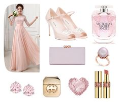 """Bridesmaid"" by starnazifa on Polyvore featuring Miu Miu, Victoria's Secret, Ted Baker, Swarovski, Yves Saint Laurent and Gucci"