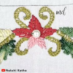 hand embroidery stitches tutorial step by step Crewel Embroidery Kits, Hand Embroidery Videos, Embroidery Stitches Tutorial, Hand Embroidery Flowers, Flower Embroidery Designs, Creative Embroidery, Sewing Stitches, Hand Embroidery Patterns, Embroidery Techniques