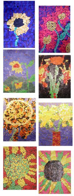Van Gogh Sunflowers http://www.mrsbrownart.com/3rd.htm