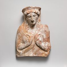 Terracotta relief with bust of a woman  Classical period,ca 450 BC  East Greek