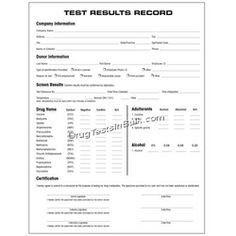 DOT Alcohol Testing Forms  Drug Testing Supplies