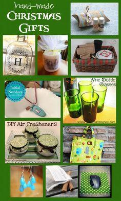 Handmade Christmas Gift Idea Round Up!! Come share your ideas #hand made