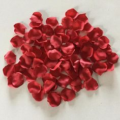 Silk Rose Petals   90 pieces red rose petals  rose confetti