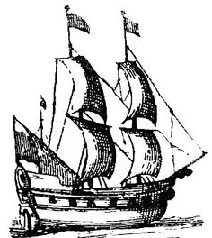 Old School Ship With Shading