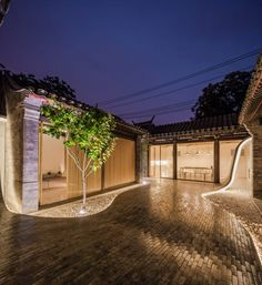"""Twisting courtyard"" house is located in Paizi Hutong, Dashilar Area, Beijing. It used to be a Siheyuan house with one single entry. Ancient Chinese Architecture, Asian Architecture, Landscape Architecture, Landscape Design, Architecture Design, Architecture Office, Futuristic Architecture, Chinese Courtyard, Casa Patio"