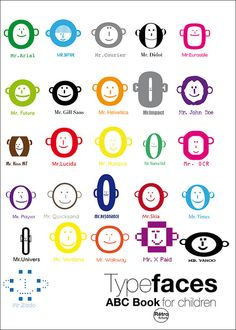 Type-faces: Stéphane Massa-Bidal aka or Rétrofuturs Graphic Design Lessons, Graphic Design Typography, Monkey Types, Type Anatomy, Gill Sans, Print Design, Web Design, Art Jokes, Typography Inspiration