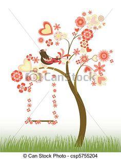 naturaleza flores arboles ilustraciones - Buscar con Google