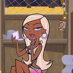 Black Cartoon Characters, Black Girl Cartoon, Black Girl Art, Cartoon Icons, Cartoon Art, Tumblr Cartoon, Black Girl Aesthetic, Aesthetic Art, Aesthetic Anime