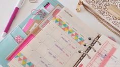 monthly page:: washi tape | Little Red Moose #layout #Journal #Planner