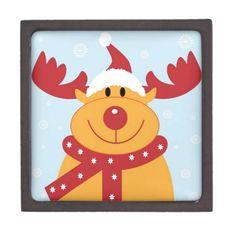 Christmas Reindeer Premium Gift Box  #Christmas #Reindeer #Box
