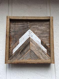 Mini Mountain 8x8 Reclaimed Wood Wall Art by DustySquareDesigns