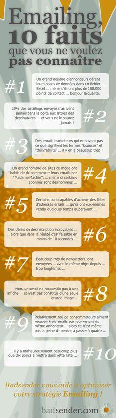 Infographie : Emailing, 10 faits que vous ne voulez pas connaître