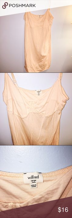 Wilfred Bustier Tank Top -- w/ Adjustable Straps Wilfred Bustier Tank Top -- w/ Adjustable Straps -- Color: A pretty soft peach/light orange-y shade -- Size: L Tops