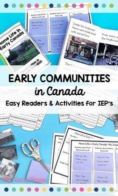 Trying to teach early communities and First Nations with students on an IEP in your classroom? This is such a great supplemental resource for teaching Social Studies in third grade. There are 3 short easy readers and simple activities to help students with special needs (or ELL) to show their learning. Perfectly aligns with the Ontario curriculum to make lessons easier. A fantastic resource for Canadian kids!