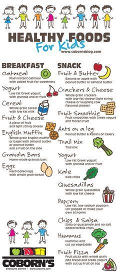 www.cobornsblog.com Healthy food options for kids