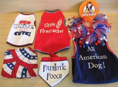 If you're taking your pooch to a cookout this Memorial Day, be sure to dress them for the occasion! Fido Park Avenue has plenty of red, white, and blue tee-shirts, party collars, and bandanas to show off your pup's patriotism!