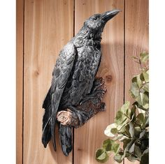 The Raven's Perch Wall Sculpture