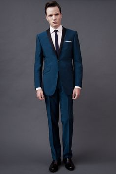 Groom Suit Idea: from Ozwald Boateng Dapper Gentleman, Gentleman Style, Teal Suit, Blue Suits, Ozwald Boateng, Groom And Groomsmen Suits, Wedding Suits, Wedding Tuxedos, Camp Wedding
