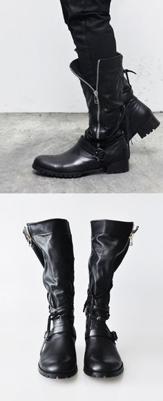 320b9ec9df1df Shoes    Designer Super Soft Strap Biker Boots-Shoes 231 - Mens Fashion  Clothing For An Attractive Guy Look