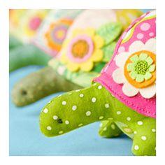 Adorable felt stuffed turtles