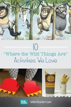 """10 """"Where the Wild Things Are"""" Activities We Love: These teaching ideas and lesson plans for Maurice Sendak's Where the Wild Things Are is the perfect starting place for lesson planning. Children's Day Activities, Activities For Adults, Kindergarten Activities, Classroom Activities, Preschool, Monster Theme Classroom, Library Themes, Love Parents, Teaching Art"""