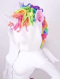 Unicorn Hoodie! This would be perfect for Farieworlds Nights! I could probably up-cycle a sweatshirt into this!