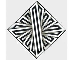 Ómar Rayo - Bártok Op Art, Geometric Drawing, Illusion Art, Native Indian, Zentangle Patterns, Japanese Symbol, Optical Illusions, Painting Inspiration, Graphic Art