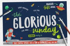 Glorious Sunday +Extras (INTRO SALE) by Heybing Supply Co. on @creativemarket