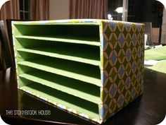 I need a paper sorter for next year! This years system was awful.so, The Stonybrook House: Mail Organizer! DIY On The Cheap! Love this, made from card board box flats, (ya know the ones vegetables come in? Diy Organizer, Cardboard Organizer, Desk Organization Diy, Cardboard Crafts, Cardboard Paper, Cardboard Boxes, Desk Paper Organizer, Cardboard Storage, Organizing Life