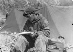 KOREAN WAR 1950-1953   A trooper of the 8th King's Royal Irish Hussars writes a letter home from Korea.