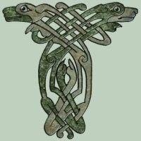lindisfarne gospels animals - Google Search Celtic Wolf Tattoo, Viking Tattoos, Celtic Tribal, Celtic Art, Celtic Symbols, Celtic Knots, Viking Art, Anglo Saxon, Dog Design
