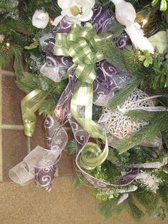 Green & purple bow