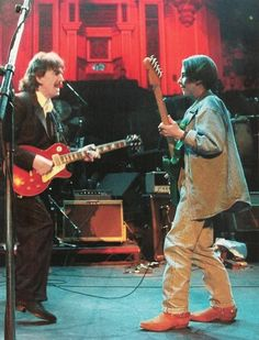 George & son Dhani Natural Law Party Concert,1992